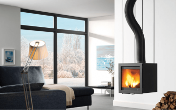 Design houtkachel Bora Flex van Dik Geurts