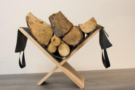 Beuken houtdrager met canvas 1